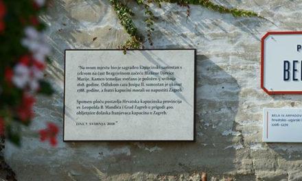 Otkrivena spomen-ploča na mjestu nekadašnjeg kapucinskog samostana u Zagrebu