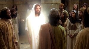 Uskrsli Krist poučava učenike