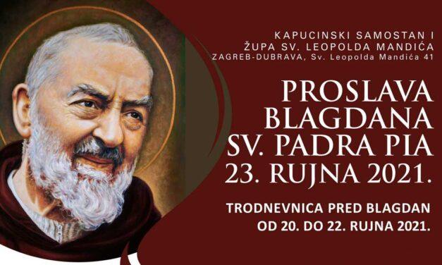 Proslava blagdana Padra Pija u Zagrebu